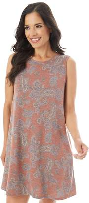 Apt. 9 Women's Printed French Terry Swing Dress
