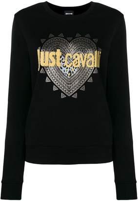 Just Cavalli logo print sweatshirt
