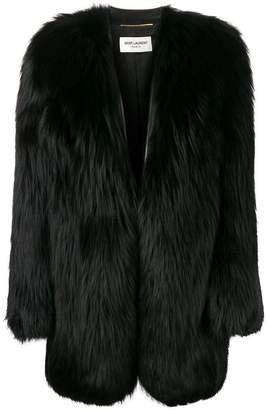 Saint Laurent oversized fur coat