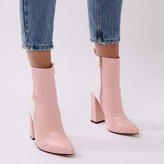Public Desire Mode Two-tone Ankle Boots and White