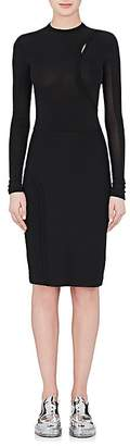 Paco Rabanne WOMEN'S FITTED TECH-JERSEY & CADY DRESS