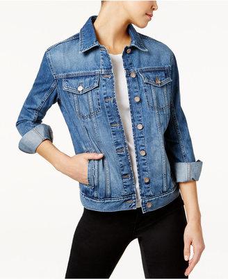 Calvin Klein Jeans Cotton Denim Jacket $79.50 thestylecure.com