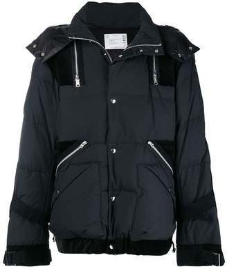 Sacai zip embellished padded jacket