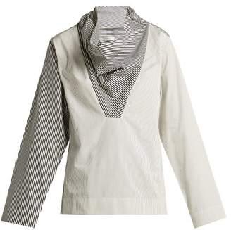 Palmer Harding Palmer//Harding Palmer//harding - Solar Striped Cotton Poplin Shirt - Womens - Blue White