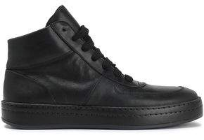 Ann Demeulemeester Leather High-Top Sneakers
