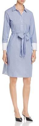 T Tahari Belted Shirt Dress