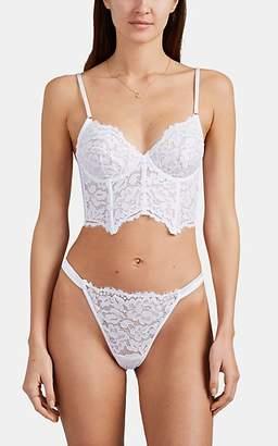 Cosabella Women's Magnolia Lace Corset Bralette - White