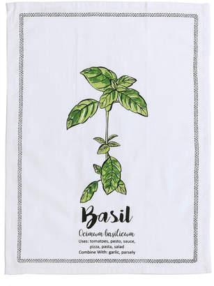 Shiraleah Basil Tea Towel With Spoon Gift Set