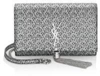Saint Laurent Kate Metallic Crossbody Wallet
