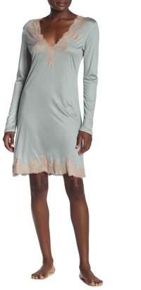 Josie Natori Lace Trimmed Sleep Shirt