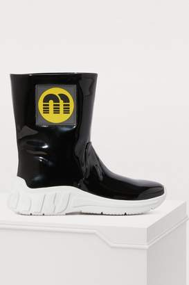 Miu Miu Patent rain boots