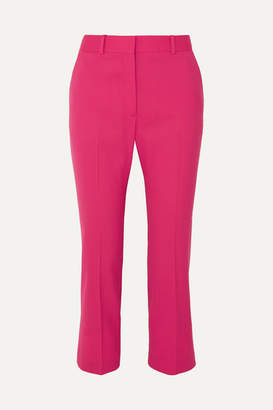 Altuzarra Adler Cropped Stretch-wool Flared Pants - Bright pink