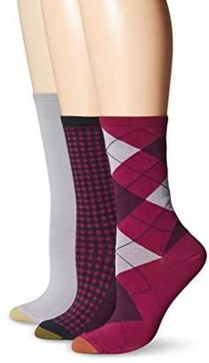 Gold Toe Women's Argyle Fashion/Flat Knit/Gingham Crew Sock