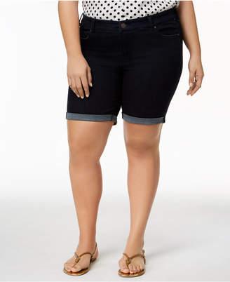 Celebrity Pink Trendy Plus Size Denim Bermuda Shorts