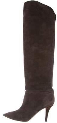 Aquazzura Suede Pointed-Toe Boots