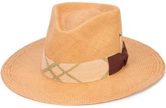 Nick Fouquet woven trilby hat