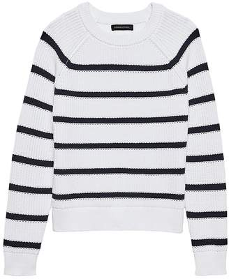 Banana Republic Petite Chunky Ribbed Stripe Sweater