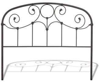 Rusty Leggett & Platt Grafton Metal Headboard with Scrollwork Design and Decorative Castings, Gold Finish, Twin