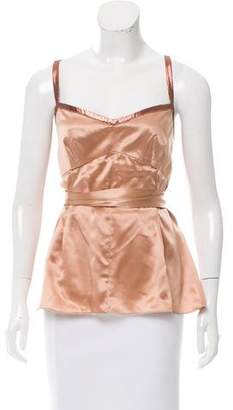 Dolce & Gabbana Sleeveless Tie-Accented Top