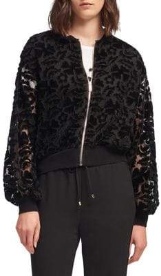 DKNY Lace Bomber Jacket