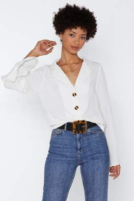 Nasty Gal Strictly Business Oversized Top