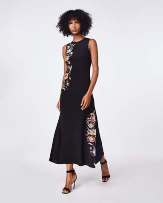 Nicole Miller Falling Flowers Embroidery Demi Length Gown