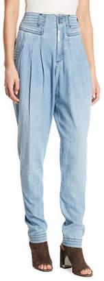 Z. Cavaricci Cat Eye High-Rise Denim Trousers