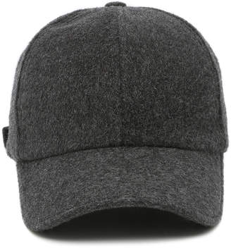 Officine Generale Grey Wool-Cashmere Baseball Cap