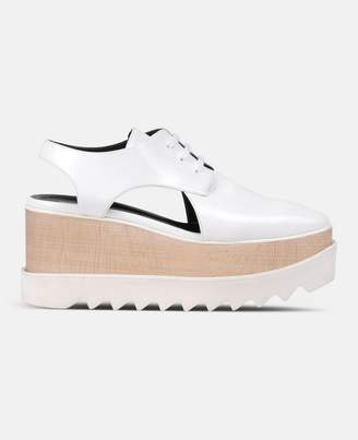 Stella McCartney white elyse cut-out shoes