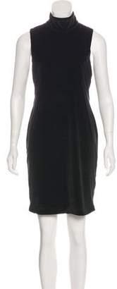 Alice + Olivia Lace-Trimmed Velvet Dress