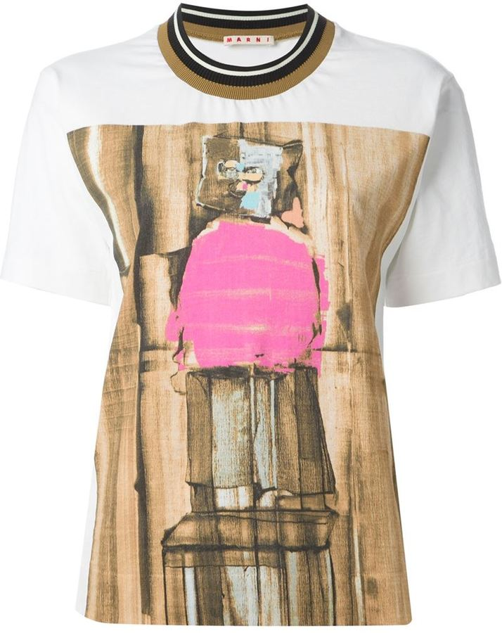 Marni man printed t-shirt