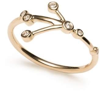 Lulu Frost Zodiacs 14k & Diamond Cancer + Water Ring