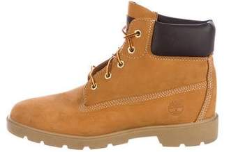Timberland Suede Round-Toe Ankle Boots
