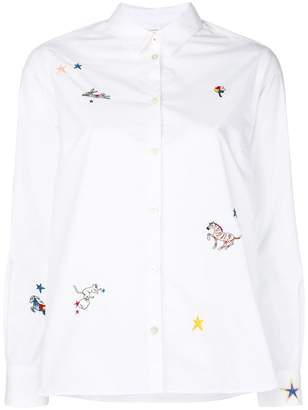 Parker Chinti & embroidered fitted shirt
