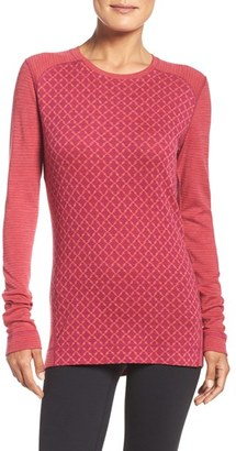 Women's Smartwool 'Nts Mid 250' Patterned Merino Wool Crewneck $105 thestylecure.com