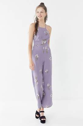 Urban Outfitters Floral Strappy Halter Jumpsuit