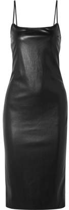 Theory Bedford Faux Leather Dress - Black