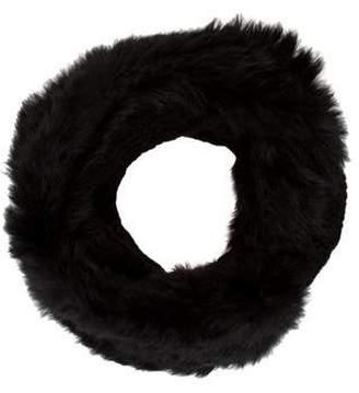 Diane von Furstenberg Fur Infinity Scarf Black Fur Infinity Scarf