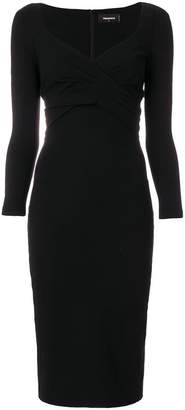 DSQUARED2 pleated detail dress