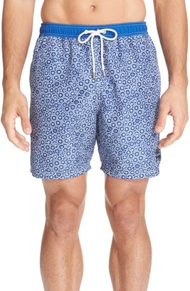 Men's Paul & Shark Print Swim Trunks $280 thestylecure.com