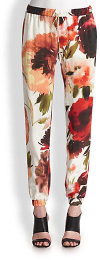 Haute Hippie Silk Floral Pants
