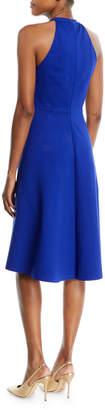Elie Tahari Mellie Halter-Neck A-Line Dress