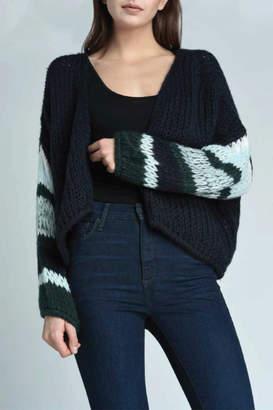 Press Stripe Sleeve Cardigan