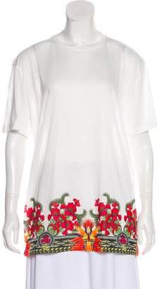 Givenchy Floral Semi-Sheer T-Shirt