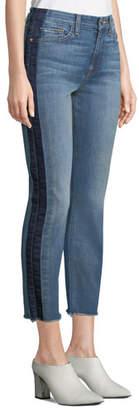 7 For All Mankind Jen7 by Straight-Leg Crop Jeans w/ Shadow Seams