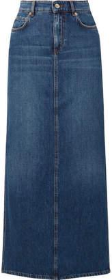Ganni Denim Maxi Skirt - Mid denim