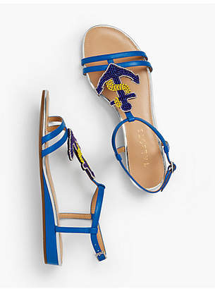 Talbots Daisy Micro-Wedge Sandals - Anchor Embellishment