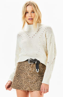 Kendall & Kylie Mock Neck Pullover Sweater