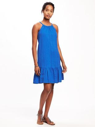 Tiered Dobby Swing Dress for Women $36.94 thestylecure.com