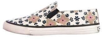 Tory Burch Floral Slide Flats
